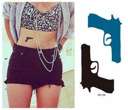 Tatouage sexy faux en ligne promotion tatouage sexy faux sur - Tatouage pistolet femme ...