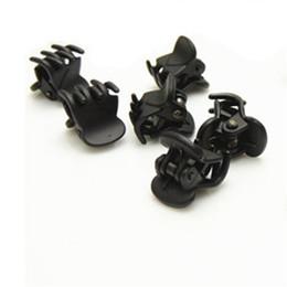 Wholesale Designer Fashion gros clips en plastique noir Mini Cheveux épingle à cheveux Cliper pince à griffes Motif pour les femmes