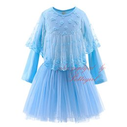 Pettigirl New Lace Flower Tutu Baby Girl Dress Stylish Solid Vestido Wholesale Kids Designer Clothes Girls GD21203-20