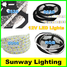 High Bright LED Strips 5M 300LED SMD 5630 5050 3528 Flexible LED Strip Lights Waterproof warm cold white RGB 12 Volt LED Lighting