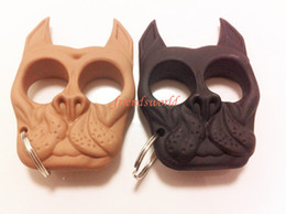 Wholesale 50pcs Brutus Self Defense Key Chain Dog Skull Shaped Personal Security Women Self defense Keychains Keychain factory Direct