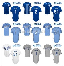 Wholesale 2016 New Kansas City Royals Jersey Cool Base Alcides Escobar Jarrod Dyson Jason Vargas White Grey Baby KC Blue
