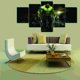 2016 Hot 5 Pcs Large HD Hulk With Abstract Canvas Print Painting for Living Room Wall Art Picture Large Poster Wall Art