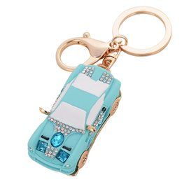 Bling Beauty Novelty Rhinestone Resin Car Keychain Keyring Fashion Zinc Alloy Key Chain Ring Women Gift Purse Bag Charms Jewelry