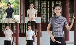 Wholesale New Sale tradition chinese tops cheongsam top traditional Chinese cotton Top lace blouse top style optional