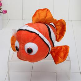 Wholesale Animated and Cute Clownfish Plush Toy Dark Yellow Nemo