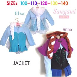 baby girls frozen Elsa Enna modeling outerwear clothes kids girl long sleeve frozen braid coat clothing lovely 5pcs lot it-009