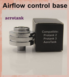 Wholesale aerotank Airflow control valve bottom Base for Protank Protank vaporiz aero tank Air Flow electronic cigarette atomizer FJ050