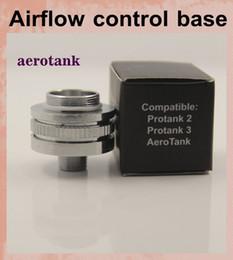 Wholesale aerotank Airflow control valve bottom Base for Protank Protank vaporiz aero tank Air Flow electronic cigarette atomizer FJ050
