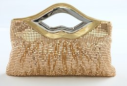 Wholesale mini bag Gold Evening Bags fashion Glitter sequin bags aluminum sheet Bridal Clutches ladies bag women bags shoulder bags handbag handbags
