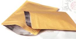 Wholesale 100pcs cm aluminum foil coated ziplock Kraft paper pouch bag coffee tea powder small accessories food packaging bags