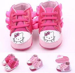 Free shipping!Cute cat baby toddler shoes,lace children casual shoes,soft infant sports shoes,pink red girls canvas shoes.9pairs 18pcs.ZH