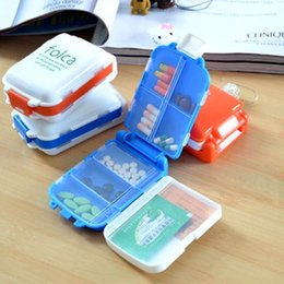 Wholesale 1 PC Folding Vitamin Medicine Drug Pill Box Makeup Storage Case Container ZH065 order lt no tracking