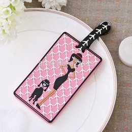 Wholesale 1 Piece Destination Wedding Attendant gift Pink High Street Girl Travel Luggage Tag