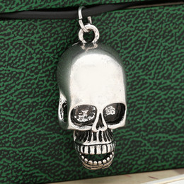 Wholesale Fashion Alloy Skull necklaces Terror anatomy bone cranium charm pendants Halloween necklaces unisex unique jewelry