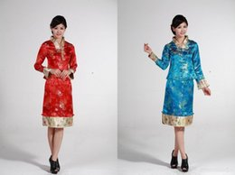 Shanghai Story hot sale chinese traditional costume 2 Color evening Dresses Traditional Chinese clothing Tang Suit for women Qipao