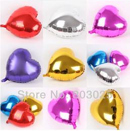 Globos del corazón en Línea-Envía al por mayor-libre 100pcs / lot 18 '' en forma de corazón de aluminio de lámina metálica globos para Helio, Globos de Mylar juguetes para los niños, 2colors