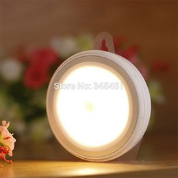 Wholesale 4X Warm light Creative Mini Night Light Human Infrared Sensor Lamp ABS PC Closet Cabinet Light for Living Bedroom Bathroom order lt no tra