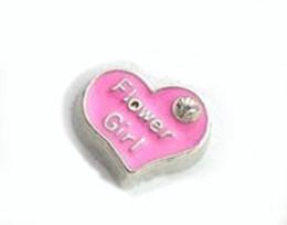 20PCS lot Heart Flower Girl DIY Alloy Wedding Floating Locket Charms Fit For Magnetic Glass Memory Locket