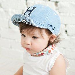 Wholesale Hot Sale Unisex Baby Boy Girl Cute Cotton Beanie Hat Soft Toddler Infant Cap New Korean version of the letter H Children s cowboy hat wholes