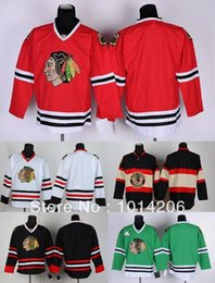 30 Teams-Wholesale Free Shipping Mixed Order! Chicago Blackhawks Jerseys blank no name no number 5 colors Cheap Hockey Jerseys
