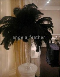 Black Ostrich Feather Plume 12-14inch 100pcs lot ,high quality for wedding centerpiece table decoration many size to choose