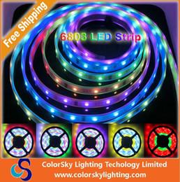2017 couleur de rêve magique 6803 led strip Bande magique de LED de couleur magique de rêve 5050 RGB, DC12V 30LED / m IP67 étanche Bande de LED intelligente. couleur de rêve magique ventes