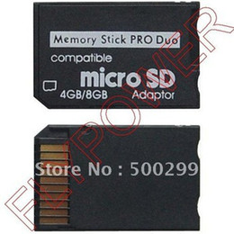 2017 adaptateurs duo memory stick Gros-Micro SD TF Memory Stick MS Pro Duo adaptateur de carte par Livraison gratuite; 100pcs / lot adaptateurs duo memory stick à vendre
