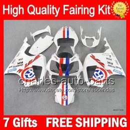 7gifts+Bodywork For HONDA VTR1000 00-07 VTR 1000 RTV1000 Blue R 46LC10 VTR1000R 2000 2001 2002 2003 07 RC51 SP1 SP2 Fairing Red white Kit