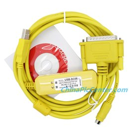 Wholesale usb sc09 programming cable with driver Mitsubishi plc cable Yellow II