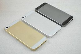 Wholesale Goophone i5 i5S MTK6582 Quad Core inch Android4 smartphone GHz G Single Nano Sim Card MP Camera cell Phones