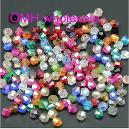 Wholesale OMH mm AAA Bicone Upscale Austrian crystals beads loose ball supply AB color ZL649