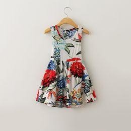 Kids Boho Clothes Wholesale Kids Girls Chiffon Print