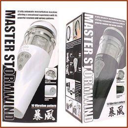 Wholesale Sex Masturbation Flashlight - UTOO STORMWIND fully automatic masturbation machine male Masturbators Rotation flashlight sex toys for man