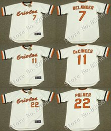 Wholesale Cheap Baltimore Orioles MARK BELANGER DOUG DeCINCES JIM PALMER jersey Home throwback Baseball Jersey stitched S XL for sale