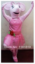Wholesale Angelina Ballerina mascot costume custom fancy costume anime cosply mascotte fancy dress carnival costume