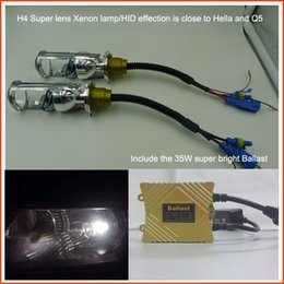 Wholesale Hot Sale H4 Hid Lamp Aluminium Dipped Headlight and Distance Headlight Silver Hid Bulbs with Projector Lens SZ H4