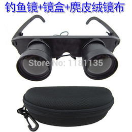 Free Shipping 3x28 Magnifier Glasses Style Fishing Optics Binoculars Telescope Opera Theater Black With Carrying Case