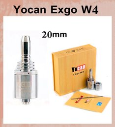 Wholesale e Cigarettes Yocan Exgo W4 Vaporizer Wax clearomizer Newest Nero Fast Heating Pure Taste atomzier Yocan mak replacement coil ATB161