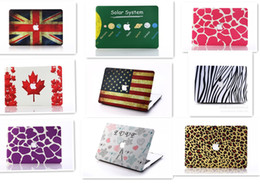 Wholesale Best quality Macbook Air case Pro Retina inch protector shell hard plastic Retro flag leopard case cover Laptop PC case