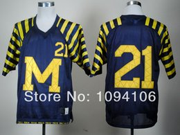 Wholesale Factory Outlet Cheap Michigan Wolverines Desmond Howard Blue Jersey Howard Ncaa College Authentic Football Jerseys New Style