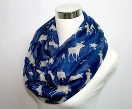 Wholesale Moose Infinity Scarf Loop Snood For Women Ladies New Fashion