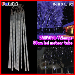 supper bright smd5050 50CM 720LEDS meteor shower Lights set 800mm 12v RGB Meteor Shower lights colorful rain snow tube light 100pcs lot