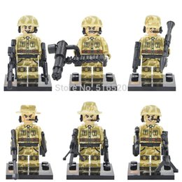 Wholesale Guard Against Terrorism SWAT Team Police Officer Tactical Unit Military Minifigures Weapon DIY Assemble Gift Building Blocks Toy