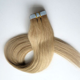 Top Quality 50g 20pcs Tape in Hair Extensions 18 20 22 24inch #22 color Glue Skin Weft brazilian Indian human hair
