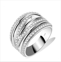 Wholesale Genuine Sterling Silver Rings For Women Silver Big Ring Anillos de Plata Silver Jewelry Ring