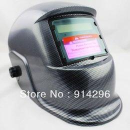 Wholesale Fully Automatic Solar Auto Darkening Black carbon fiber MIG Tig Arc MAG Welding Helmet Mask