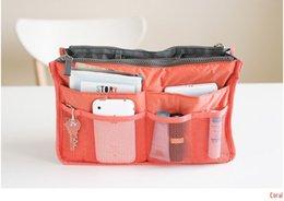 Wholesale 9 Colors Make up organizer bag Women Men Casual travel bag multi functional Cosmetic Bags storage bag in bag Makeup Handbag cz