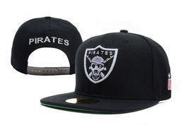 2016 hot sale black unkut PIRATES snapback baseball cap for men women summer spring winter fashion hip pop street hats TY