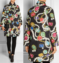 Fashion Print Women Outwear Zipper Design Jacket 15104888